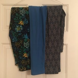 LuLaRoe OS Leggings - 3 pair